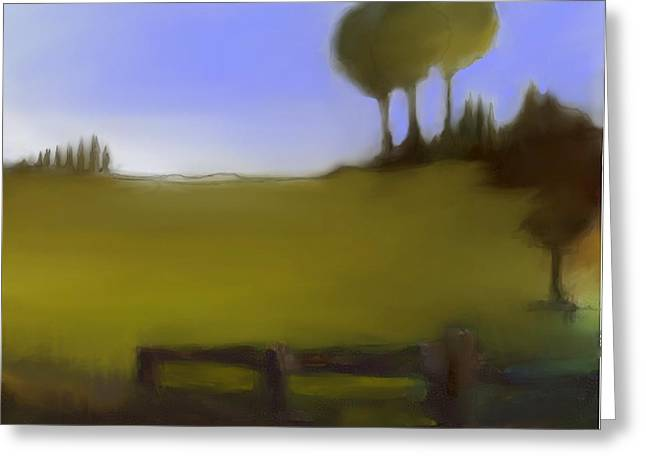 Urban Images Pastels Greeting Cards - Duxbury Golf Course  Number 1-1 Greeting Card by Diane Strain