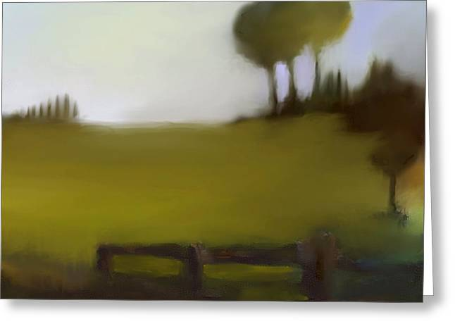 Urban Images Pastels Greeting Cards - Duxbury Golf Course  Number 1 Greeting Card by Diane Strain