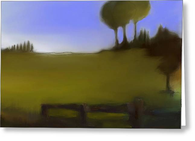 Urban Images Pastels Greeting Cards - Duxbury Golf Course  Number 2-2 Greeting Card by Diane Strain