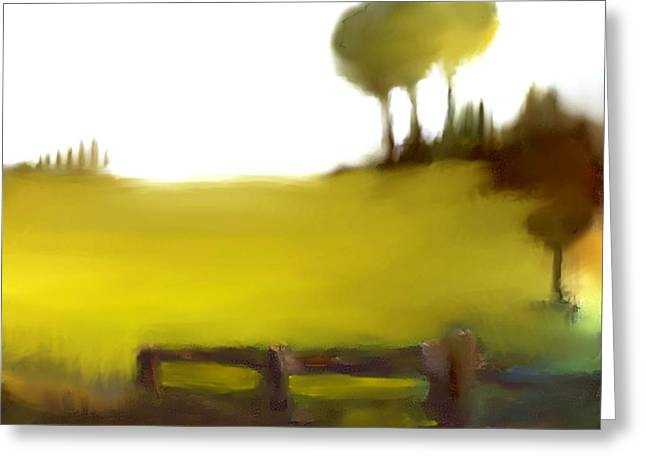 Urban Images Pastels Greeting Cards - Duxbury Golf Course  Number 2 Greeting Card by Diane Strain