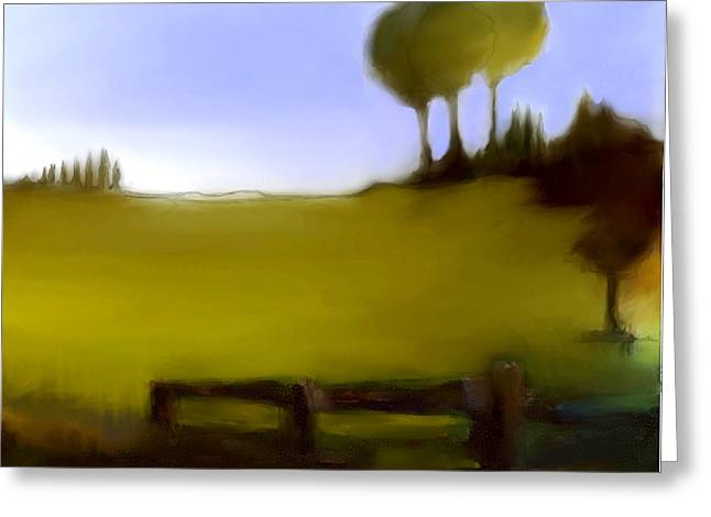 Urban Images Pastels Greeting Cards - Duxbury Golf Course  Number 3-3 Greeting Card by Diane Strain