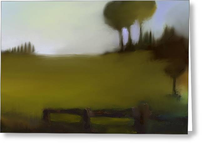 Urban Images Pastels Greeting Cards - Duxbury Golf Course  Number 3 Greeting Card by Diane Strain