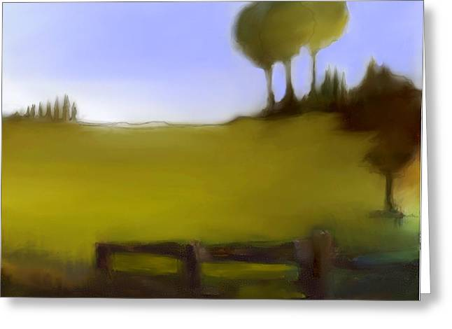 Urban Images Pastels Greeting Cards - Duxbury Golf Course  Number 4-4 Greeting Card by Diane Strain