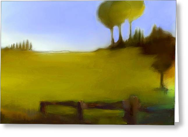 Urban Images Pastels Greeting Cards - Duxbury Golf Course  Number 6-6 Greeting Card by Diane Strain