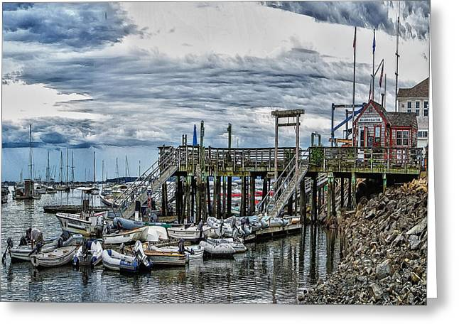 Duxbury Greeting Cards - Duxbury Harbor Greeting Card by Constantine Gregory
