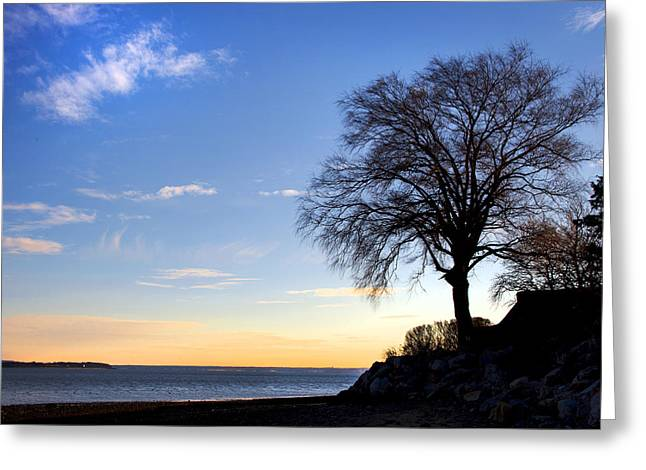 Duxbury Greeting Cards - Duxbury Sunset Greeting Card by Charles Harden