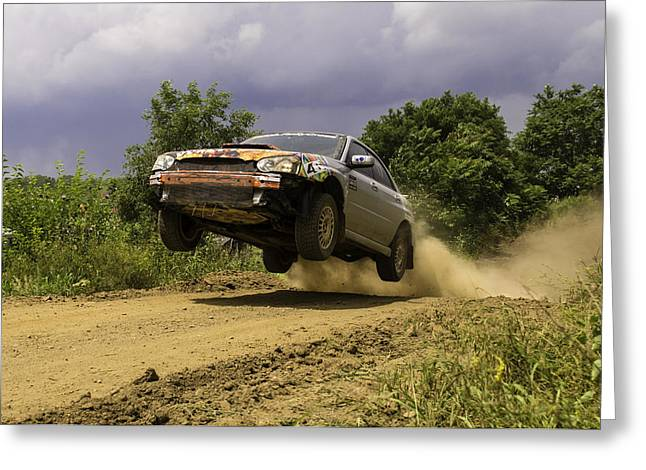 Rally Greeting Cards - DW Rally Team Takes Flight Greeting Card by Jason Massey