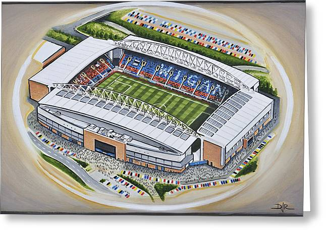 Dw Stadium - Wigan Athletic Greeting Card by D J Rogers