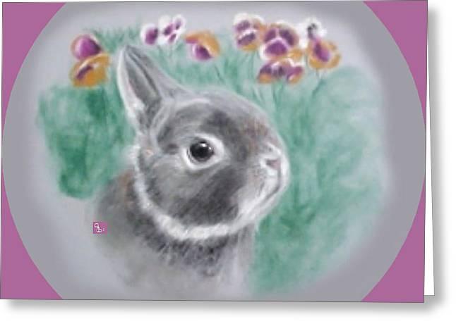 Jeanie Greeting Cards - Dwarf Bunny  Greeting Card by Jeanie Beline