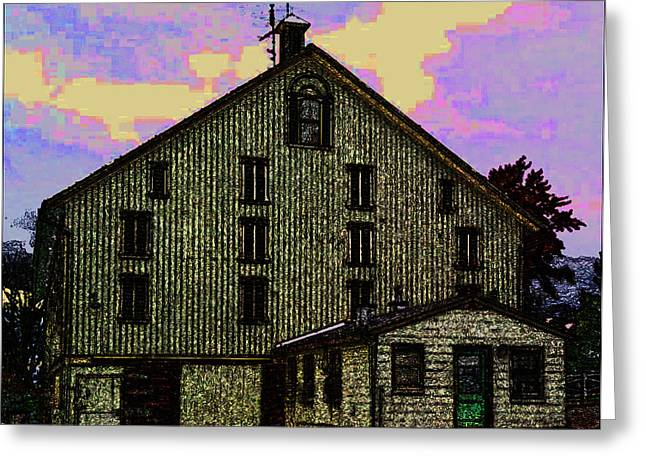 General Dwight D Eisenhower Greeting Cards - Dwight D. Eisenhower Barn In Gettysburg In Draw Form Greeting Card by Amazing Photographs AKA Christian Wilson