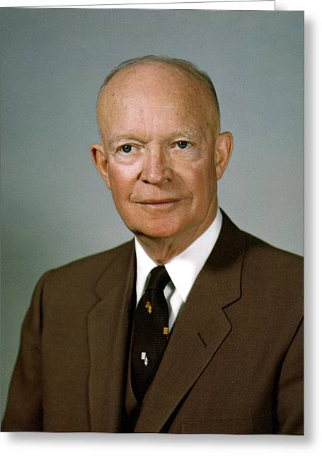General Dwight D Eisenhower Greeting Cards - Dwight D. Eisenhower Greeting Card by Nomad Art And  Design