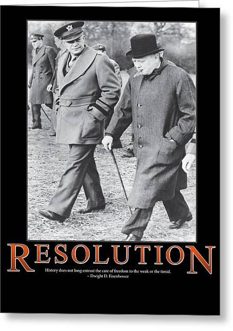 Dwight D. Eisenhower Greeting Cards - Dwight D. Eisenhower Resolution Greeting Card by Retro Images Archive