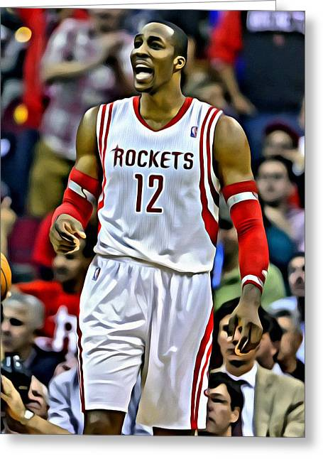 Slamdunk Greeting Cards - Dwight Howard Greeting Card by Florian Rodarte