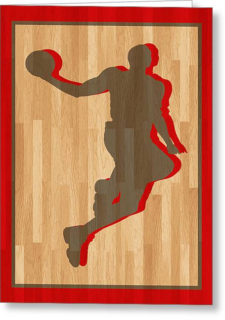 Dwight Howard Greeting Cards - Dwight Howard Houston Rockets Greeting Card by Joe Hamilton