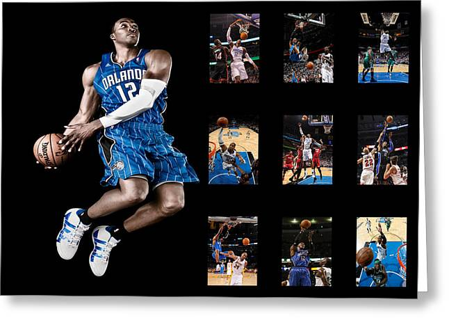 Dunk Photographs Greeting Cards - Dwight Howard Greeting Card by Joe Hamilton
