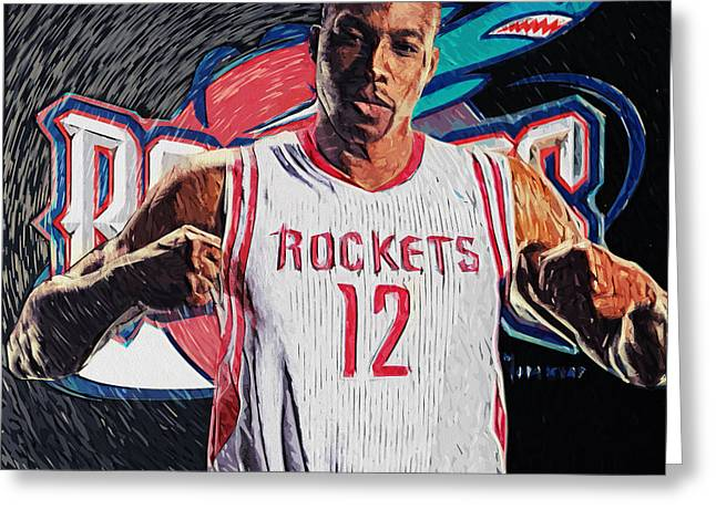 Orlando Magic Digital Art Greeting Cards - Dwight Howard Greeting Card by Taylan Soyturk