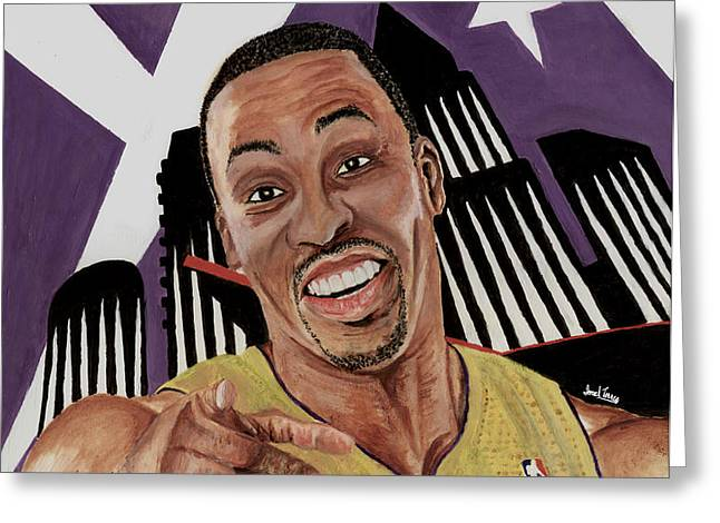 Dwight Howard Welcome to the  Lake Show Greeting Card by Israel Torres