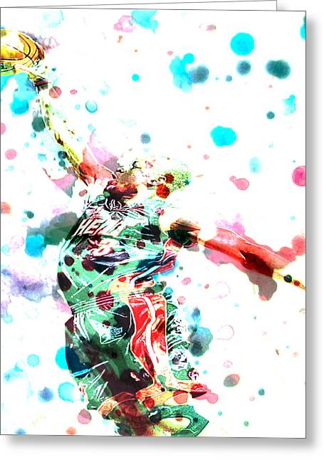 Dwyane Wade Greeting Card by Brian Reaves