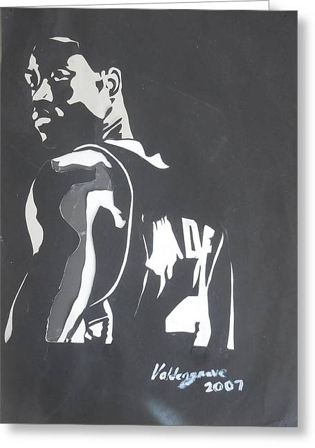 Best Sellers -  - Kobe Mixed Media Greeting Cards - Dwyane Wade Greeting Card by Valdengrave Okumu