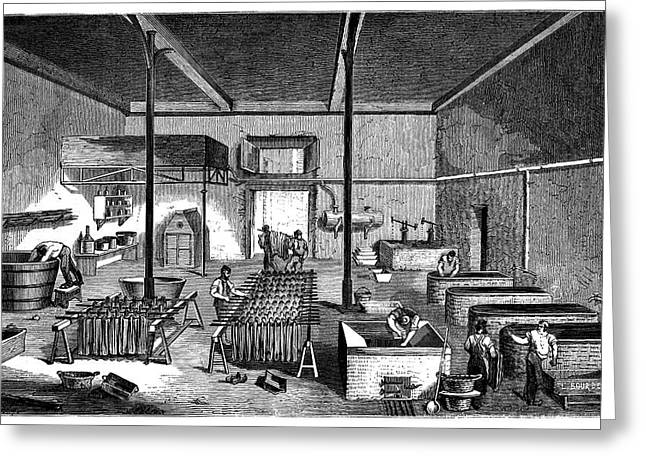 Dye Factory Greeting Card by Science Photo Library