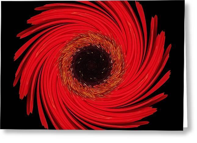 David J Bookbinder Greeting Cards - Dying Amaryllis Flower Mandala Greeting Card by David J Bookbinder