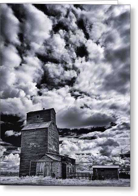 Old Farms Greeting Cards - Dying Prairies Greeting Card by Ian MacDonald