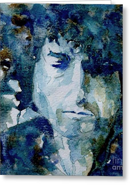 Icon Paintings Greeting Cards - Dylan Greeting Card by Paul Lovering