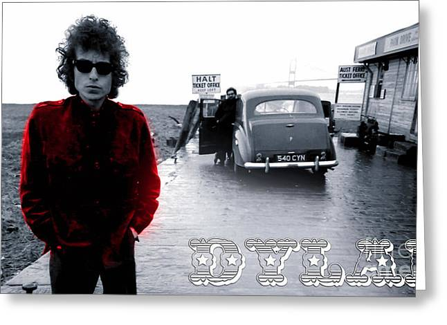 Country Music Greeting Cards - Bob Dylan Greeting Card by Marvin Blaine