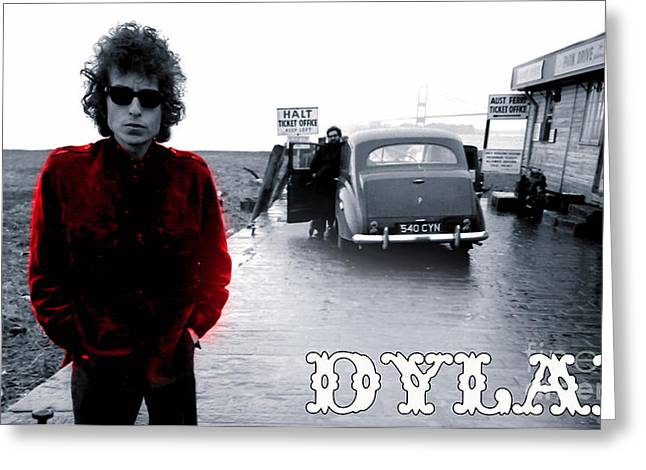 Bob Dylan Greeting Card by Marvin Blaine
