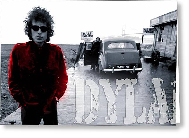 Bob Dylan Print Greeting Cards - Bob Dylan Greeting Card by Marvin Blaine