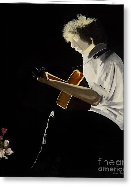 Tangled Up In Blue Greeting Cards - Dylan Greeting Card by Stuart Engel