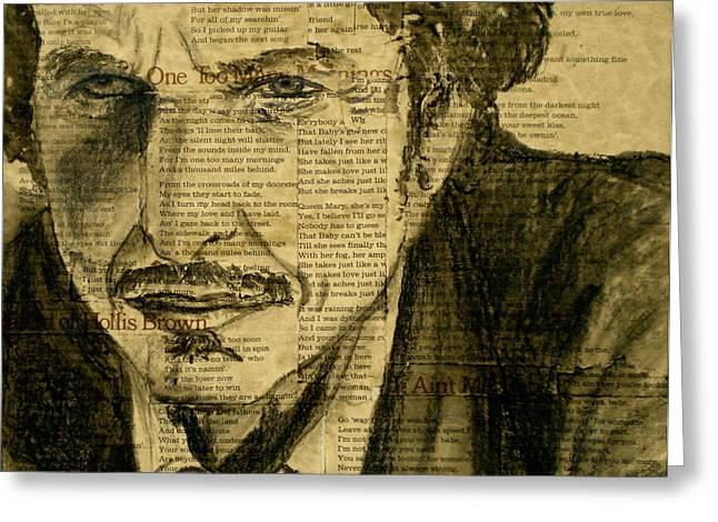Dylan the Poet Greeting Card by Debi Starr
