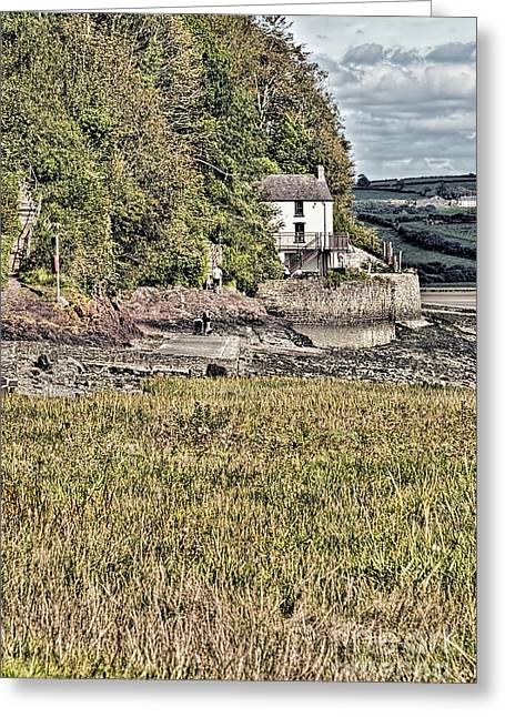 Dylan Thomas Boathouse At Laugharne 2 Greeting Card by Steve Purnell