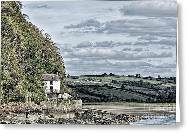 Dylan Thomas Boathouse At Laugharne Greeting Card by Steve Purnell