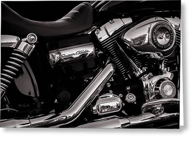 Cave Greeting Cards - Dyna Super Glide Custom Greeting Card by Bob Orsillo
