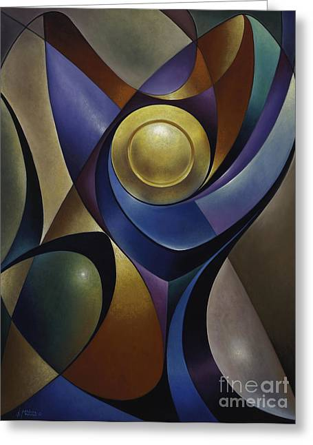 Curvismo Greeting Cards - Dynamic Chalice Greeting Card by Ricardo Chavez-Mendez