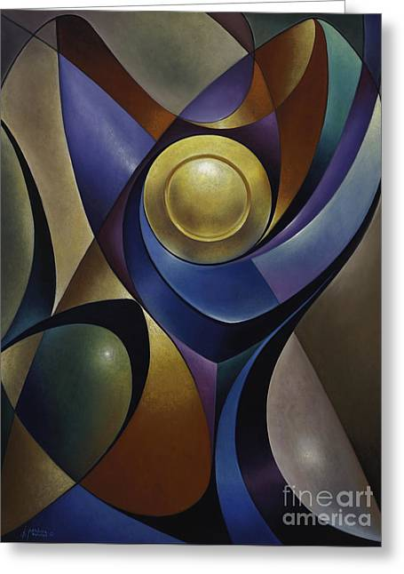 Stained Glass Greeting Cards - Dynamic Chalice Greeting Card by Ricardo Chavez-Mendez