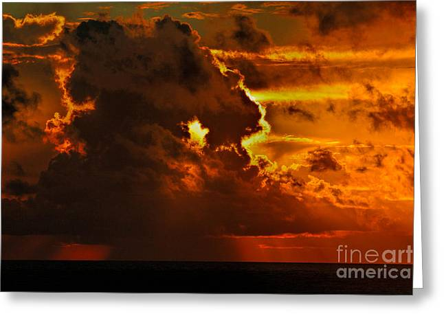 Dave Bosse Greeting Cards - Dynamic Heavens Greeting Card by Dave Bosse