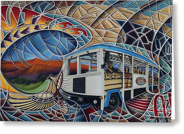 Trolley Greeting Cards - Dynamic Route 66 II Greeting Card by Ricardo Chavez-Mendez