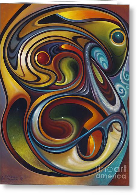 Dynamic Series #15 Greeting Card by Ricardo Chavez-Mendez