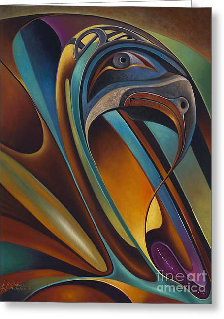 Multi Colored Paintings Greeting Cards - Dynamic Series #17 Greeting Card by Ricardo Chavez-Mendez