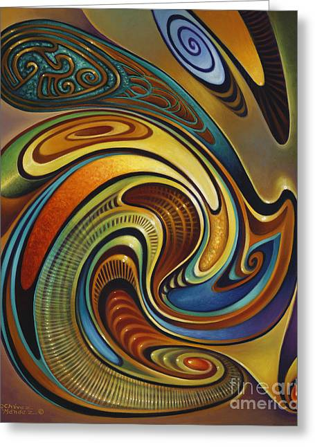 Multi-color Greeting Cards - Dynamic Series #19 Greeting Card by Ricardo Chavez-Mendez