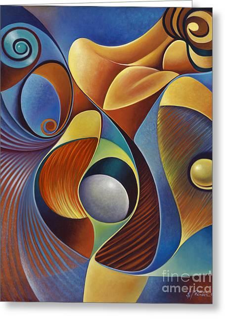 Dynamic Series #22 Greeting Card by Ricardo Chavez-Mendez