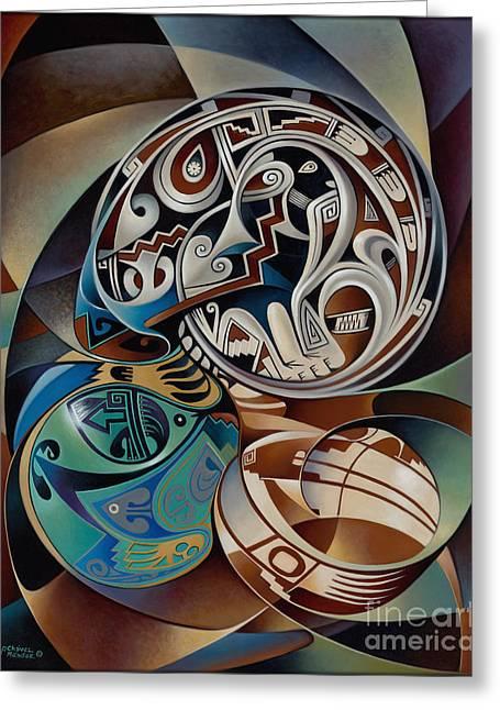 Dynamic Still Il Greeting Card by Ricardo Chavez-Mendez