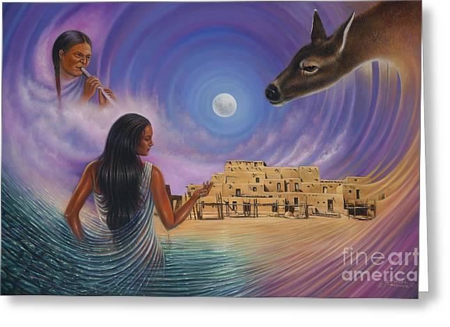 Taos Greeting Cards - Dynamic Taos Il Greeting Card by Ricardo Chavez-Mendez
