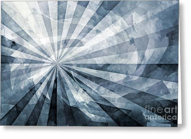Abstract Digital Mixed Media Greeting Cards - Dynamics Greyscale Greeting Card by Artwork Studio