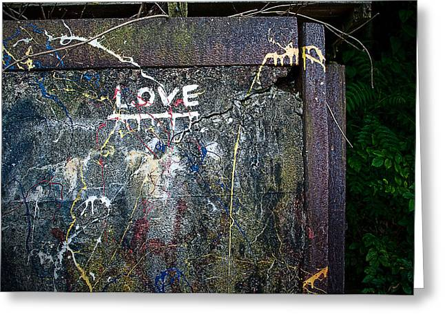 Cracked Stone Greeting Cards - Dysfunctional Love Greeting Card by Rick Mosher