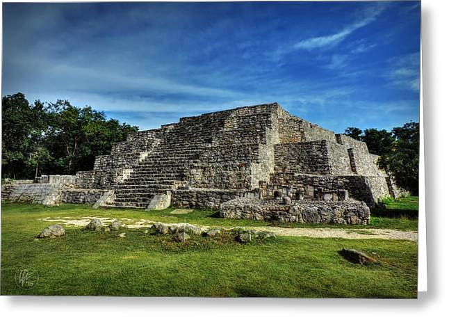 Best Sellers -  - Stepping Stones Greeting Cards - Dzibilchaltun Pyramid 002 Greeting Card by Lance Vaughn