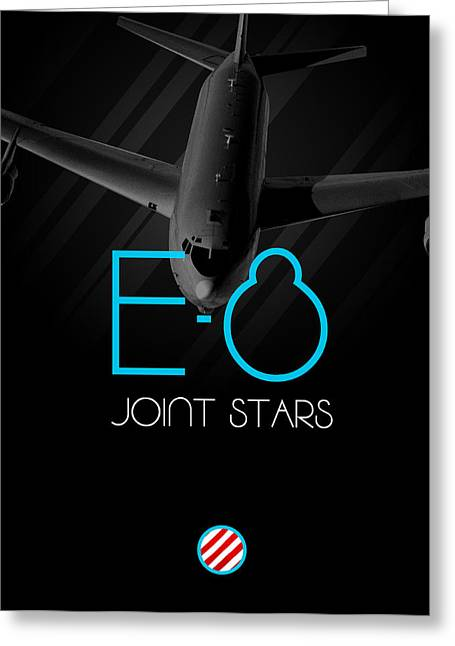 Jet Star Greeting Cards - E-8 Joint Stars Blackout Greeting Card by Reggie Saunders