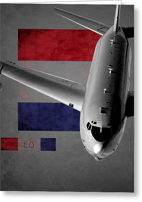Jet Star Greeting Cards - E-8 Joint Stars Flag Spirit Greeting Card by Reggie Saunders